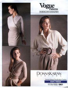 brand new c1182 59c1c Vogue 1961 by Donna Karan (1987) Image via Etsy. Bodysuit Blouse, 1980s