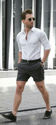 shorts & shirt outfit ideas for men | shorts & shirts looks for men #mens #fashion #street #style #outfitideas