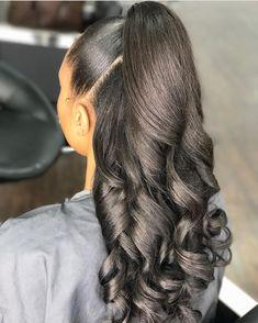 Haarschnitte langes glattes Haar Haircuts For Long Straight Hair Weave Ponytail Hairstyles, Prom Hairstyles For Short Hair, Baddie Hairstyles, Black Girls Hairstyles, Short Haircuts, Wedding Hairstyles, Formal Hairstyles, Pageant Hairstyles, Relaxed Hairstyles