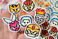 In the year 20XX it seems only Megaman is allowed extra lives as he runs around. The system is corrupt and these 1up boss heads are here to balance things out. Iceman, Elecman, Gutsman, Fireman, Bombman, and Cutman deserve better. They deserve to have their face stuck for all to see.  These are unique stickers made by me. They average around 1.5x2 with a glossy finish.
