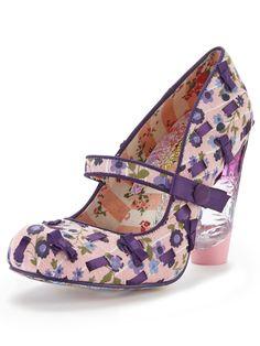 Irregular Choice Secret Pair Printed Court Shoes | very.co.uk