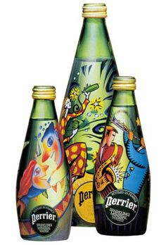 Read more: https://www.luerzersarchive.com/en/magazine/print-detail/perrier-4308.html Perrier Label design for Perrier bottles by various artists. Tags: Lipson Alport Glass & Associates, Illinois,Lori Cerwin,Amy Russell,Margaret Chodos-Irvine,Philippe Beha,Burton Morris,Perrier