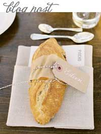Style Unveiled-Most Delicious Wedding Favor: Baguettes!!