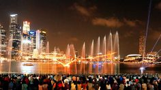 4K Singapore light show & music 2015 Marina Bay Sands. LX100