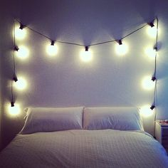 My #home #bed #lights
