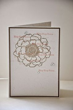 This is such a great technique, second generation stamping. I watched a Papercrafts video on YouTube last week and made a card. Sentiment is in Dutch. All supplies are from Stampin' Up!®