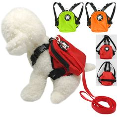 Dog Harness Bag com Leash Pet Puppy Backpack Doggie Hiking Camping Carrier SL