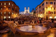 Spanish Steps Rome  Had a great dinner near there!  Want to go back