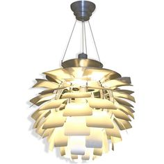 Artichoke Style Modern Silver 28-inch Chandelier Lamp | Overstock.com Shopping - The Best Deals on Chandeliers & Pendants