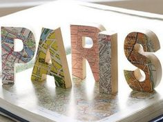 For World Thinking Day - map crafts Wooden Map, Wooden Letters, 3d Letters, Cover Letters, Print Letters, Monogram Letters, Cardboard Letters, Letter Art, Decoupage Letters