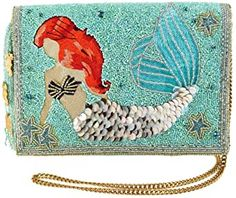 Shop a great selection of Mary Frances Ariel Beaded Crossbody Clutch. Find new offer and Similar products for Mary Frances Ariel Beaded Crossbody Clutch. Disney Little Mermaids, Ariel The Little Mermaid, Mary Frances Purses, Crossbody Clutch, Clutch Purse, Lego Disney, Disney Addict, Beaded Clutch, Disney Merchandise
