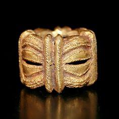 Asante Gold Ring - MT.151 Origin: Ghana Circa: 1600 AD to 1850 AD