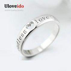 Anillo para Los Hombres Joyería Bague Bijoux Amor del corazón Anillos de Boda anillo masculino del hombre de compromiso anillos tamaño 11 2017 uloveido matrimonio J205