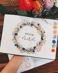 """Tanja von Die Handletterei on Instagram: """"#letternammorgen #hellomarch ✍🏻🌿 > #handletteringmeetsillustration 📚♥️ . . . #letteringchallenge #letteringart #lettering_co…"""""""