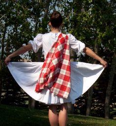 Back of white dress for Highland dance