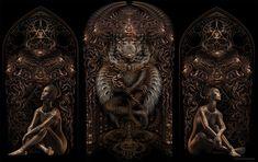 Gateman Triptych- Keerych Luminokaya