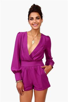 Sultry Romper - Purple  21st Birthday Outfit maybeee?