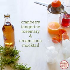### Cranberry, Tangerine, Rosemary, and Cream Soda Mocktails  FROM Lilly Pulitzer' The Fruit Stand+ Spoon Fork Bacon