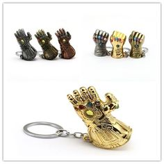 Mixed Styles Avengers 3 Thanos Infinity Glove Gauntlet Keychain Metal Alloy Key Chain Fist Keyring Holder Chaveiro Wholesale Under Wear petit q underwear commercial Cute Fashion, Womens Fashion, Mens Gear, Cool Gear, Mix Style, Key Chain, Infinity, Avengers