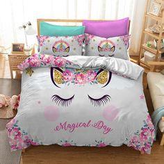 GoldStar/® Unicorn Fairytale Girls Kids Single Duvet Quilt Cover Children Bedding Set Duvet Cover
