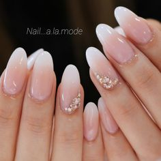 Wedding Nails-A Guide To The Perfect Manicure – NaiLovely Vintage Wedding Nails, Natural Wedding Nails, Simple Wedding Nails, Pink Wedding Nails, Wedding Nails Design, Wedding Hair, Almond Acrylic Nails, Cute Acrylic Nails, Cute Nails