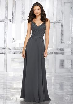 Morilee by Madeline Gardner Bridesmaids Style 21544 V-Neck Bridesmaid Dress