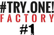 Logo Try One Factory sur fond blanc Logos, Logo