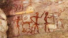 Rock Art of Tuaregs with Camels, Tassili, Algeria, North Africa, Africa Photographic Print Ancient Mysteries, Ancient Artifacts, Ancient Egypt, Cave Drawings, Pictogram, Cool Posters, North Africa, Rock Art, Archaeology