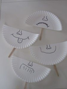 Paper-plate emotion masks - learning about feelings and expressing them.