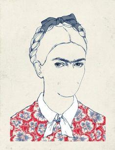 22 Ilustraciones tributo a Frida Kahlo creadas por artistas jóvenes Frida por la artista proveniente de Valencia, España: María Hergueta.