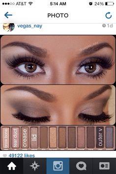 Naked palette makeup look