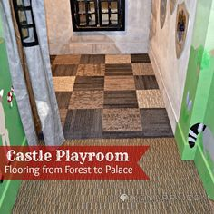 Castle Playroom Floors: Creating Space with Carpet Squares - Ideas for the Home by Kenarry™ - Beyond Binary Playroom Flooring, Carpet Squares, Toy Rooms, And So The Adventure Begins, Diy Carpet, Under Stairs, Create Space, Craft Activities For Kids, Basement Remodeling