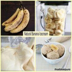 Разрезаем бананы на дольки и убираем в морозилку. Когда фрукт замерзнет, вытаскиваем и сразу же измельчаем в блендере. Готово! Абсолютно нечего не нужно добавлять! Получается очень вкусный десерт, напоминающий нечто среднее между кремом и мороженым.