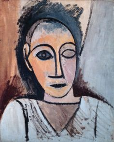 """Pablo Picasso, """"Buste d'homme"""" (étude pour """"Les Demoiselles d'Avignon""""), printemps 1907"""