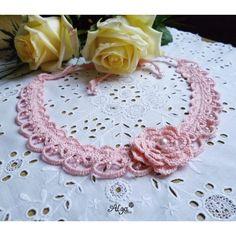 Háčkovaný náhrdelník s perličkami Necklaces, Collar Necklace, Wedding Necklaces