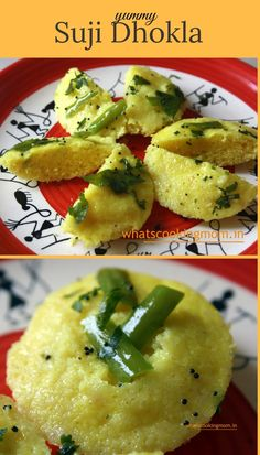 Suji Dhokla or Instant Semolina dhokla is a healthy traditional Indian - Gujarati dish. Homemade Rava/ suji dhokla is a quick variation of the Indian Breakfast, Best Breakfast, Healthy Breakfast Recipes, Vegetarian Recipes, Cooking Recipes, Healthy Recipes, Breakfast Ideas, Cheap Recipes, Vegetarian Lunch