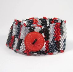 Red, White & Black Freeform Cuff  $36.00