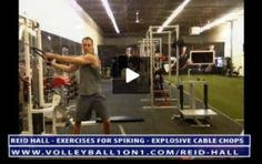 Volleyball Exercises for Spiking Harder - Explosive Cable Chops - With Reid Hall Volleyball Passing Drills, Volleyball Warm Ups, Volleyball Training, Volleyball Workouts, Hidden House, Tough Guy, Injury Prevention, Coaching