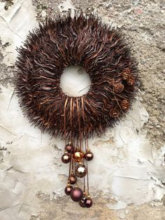 Thanksgiving wreath Fall wreath Autumn by CadeauDeLaNature, $45.00