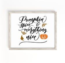 Pumpkin Spice Everything Nice Sign Fall Quotes Print Living | Etsy Affordable Wall Art, Quote Prints, Pumpkin Spice, Farmhouse Decor, Everything, Spices, Spice, Country Farmhouse Decor, Country Home Decorating
