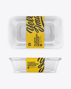 Free Plastic Clear Container Front Side and Top Views Mockups (PSD) Vegetable Packaging, Food Box Packaging, Dessert Packaging, Food Packaging Design, Branding Design, Identity Branding, Corporate Design, Corporate Identity, Brand Packaging