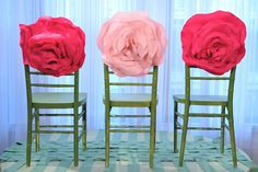 Recruitment chair covers! I would make them in white and yellow with tissue paper!