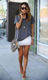 Look: T-shirt Cinza