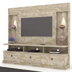 Estante Home Theater Para TV até 55 Pol. Wardrobe Design Bedroom, Bedroom Bed Design, Bedroom Decor, Modern Tv Room, Modern Tv Wall Units, Tv Unit Decor, Tv Wall Decor, Tv Cabinet Design, Tv Wall Design