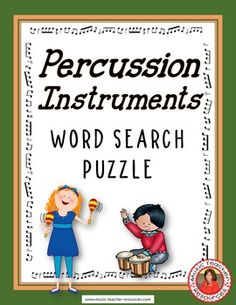 Percussion Instruments Word Search Puzzle This Word Search Puzzle contains 30…