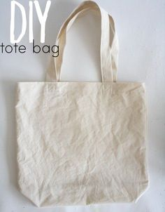 DIY tote bag tutorial and pattern. Great base for customization. The author suggests dip-dying. Could also do a fun fabric, freezer paper stencil, or iron-on transfer.