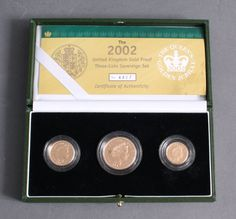 Great Britain 2002 gold Proof set with a troy weight from approximate 25.61 Gr.    Dealer  Badisches Auktionshaus    Auction  Minimum Bid:  720.00EUR