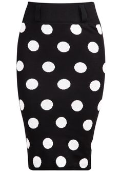 Shop Black Polka Dot Bodycon Knit Skirt online. Sheinside offers Black Polka Dot Bodycon Knit Skirt & more to fit your fashionable needs. Free Shipping Worldwide!