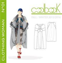 """l'anteprima di copertina del book di tendenza """"clothing woman fall/winter 2015/2016"""" previsto in uscita il 28/07/2014 e pubblicato su http://www.coolbook.it/shop-2/"""