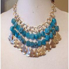 Aqua Blue Druzy Necklace | Designs by Julie Zancanelli - Leawood, KS